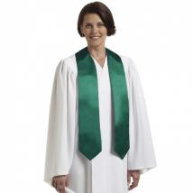 C-80 Embroidered Choir Stole - Forest Green