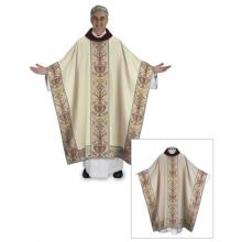 Coronation Chasuble with Velvet Cowl neck and Coronation Sleeves 504