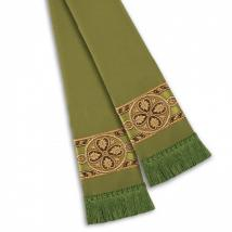Fleur Banded Pulpit Stole Moss Green 13097