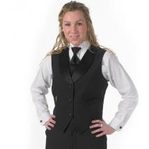 SATIN SHAW COLLAR VEST 3537