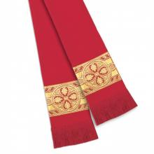 Fleur Banded Pulpit Stole Red 13094
