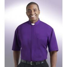 Church Purple Tab Collar Clergy Shirt SM112