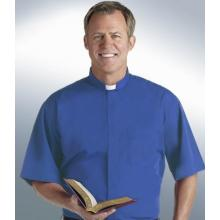 Royal Blue Tab Collar Clergy Shirt SM116