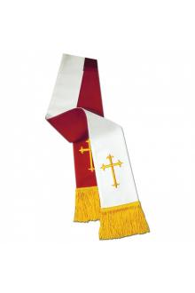 Clergy Stole 11733 - Reversible Red/White w/Cross