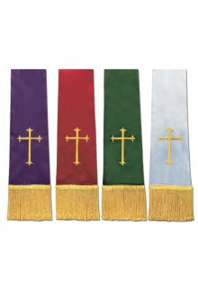 Empress Satin Stole 14374 - Set of 4 w/Cross