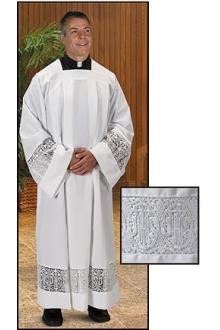 Latin Cross and IHS Lace Box Pleated 420
